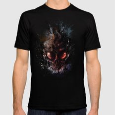 That is when the world will end Mens Fitted Tee Black MEDIUM