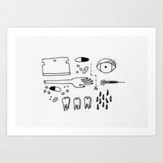 ouch! Art Print
