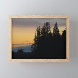 Dusk at the Hoh river Framed Mini Art Print
