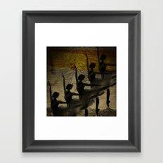 Bailarina, diz pra mim, cadê você? Framed Art Print