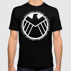 S.H.I.E.L.D Logo Black Mens Fitted Tee SMALL