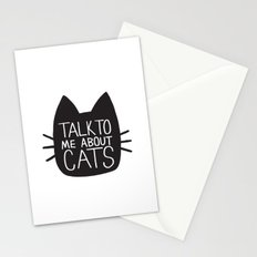 Talk to Me About Cats Stationery Cards