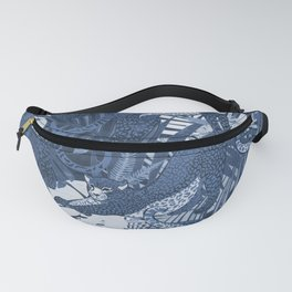 Big Cats in the Night / Cheetahs in Blue Fanny Pack