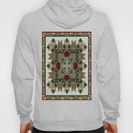 Kaleidoscope No. 30 Emeralds, Rubies and Diamonds Hoody