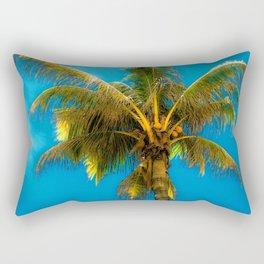 Sunlight Strikes the Coconut Palm Rectangular Pillow