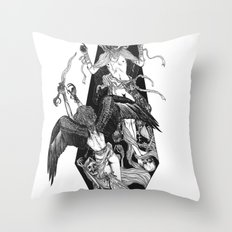 Inverted Coffin Throw Pillow