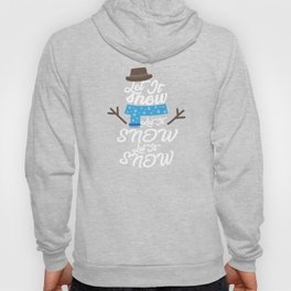Let It Snow Christmas Holiday Snowman Gift Hoody
