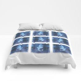 Blue Watercolor Seahorse II pattern Comforters