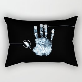 Line Of Hand Print Rectangular Pillow