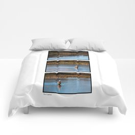Gone Fishing Triptych White Comforters