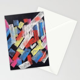 Multicolor construct Stationery Cards