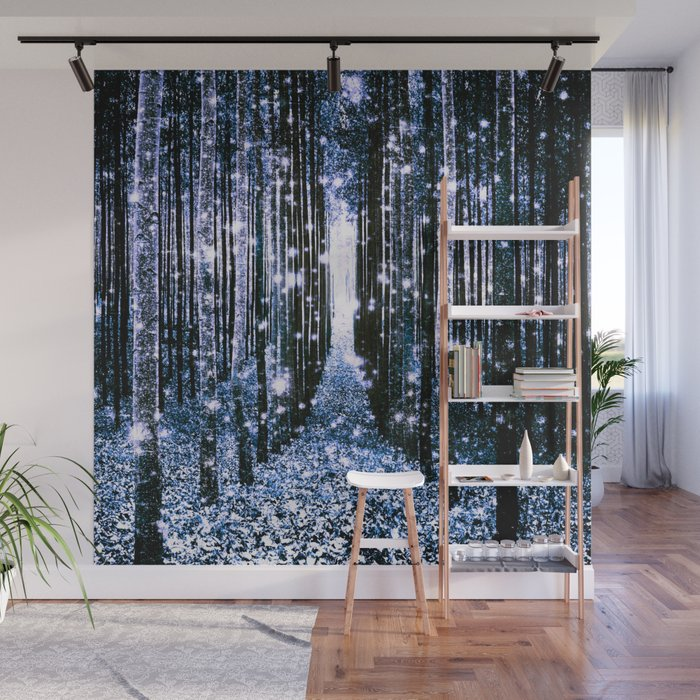Magical Forest Dark Blue Elegance Wall Mural
