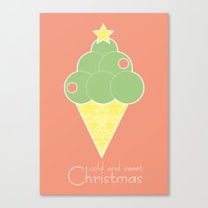 cold and sweet Christmas Canvas Print