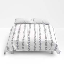 Grey decorative stripes on white. Comforters