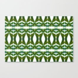 Palm Leaf Kaleidoscope (on white) #2 Canvas Print