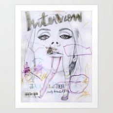 Interview Art Print