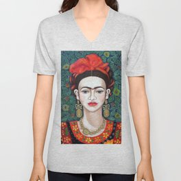 Frida - queen of hearts closer Unisex V-Neck