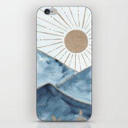 Indigo & gold landscape 1 iPhone Skin