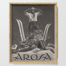 Werbeplakat Arosa voyage poster Serving Tray
