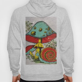 Snail and mushrooms Hoody