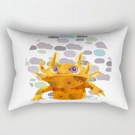 Bubbles Axolotl Rectangular Pillow