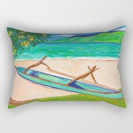 Tahiti Outrigger Rectangular Pillow