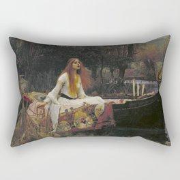 John William Waterhouse The Lady Of Shallot Original Painting Rectangular Pillow