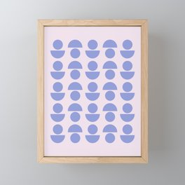 Shapes in Periwinkle Framed Mini Art Print