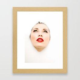 Face In Milk Framed Art Print