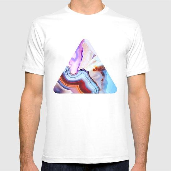 Agate, a vivid Metamorphic rock on Fire T-shirt