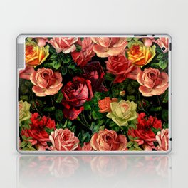 Vintage & Shabby chic - floral roses flowers rose Laptop & iPad Skin