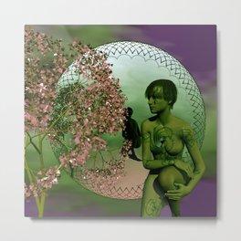 the mirrored fractal woman Metal Print