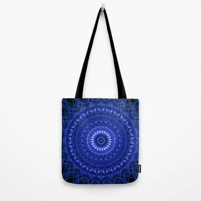 Dark blue mandala Tote Bag