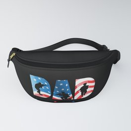 Mens Dad The Veteran The Myth The Legend print Cool Soldier Gift Fanny Pack