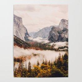 Amazing Yosemite California Forest Waterfall Canyon Poster