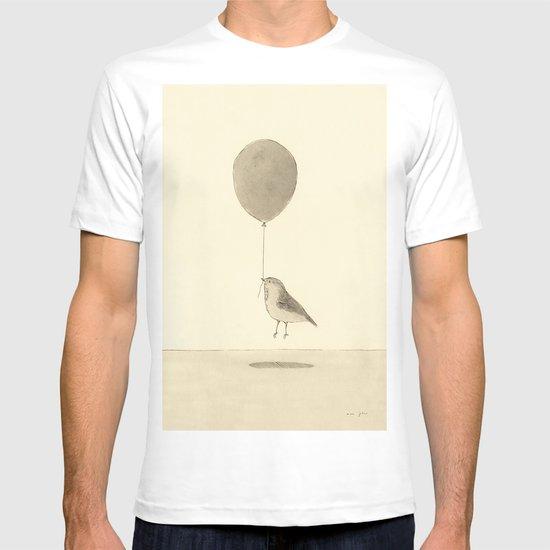 bird with a balloon T-shirt