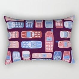 Vintage Cellphone Reactions Rectangular Pillow