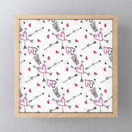 Love Power Pattern Framed Mini Art Print