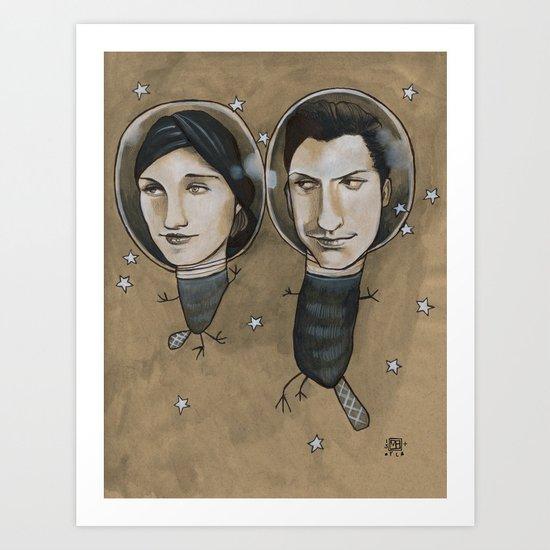 Outer Face Art Print