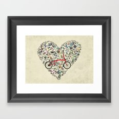 I Love Brompton Bikes Framed Art Print