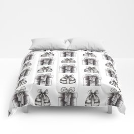 Black And White Christmas Objects Decor Comforters