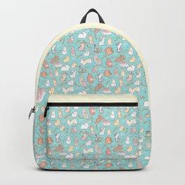 Cute bunny pattern light blue Backpack