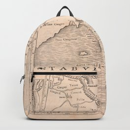 Vintage Map Print - 1542 Ptolemaic Map of the Ganges Delta Backpack