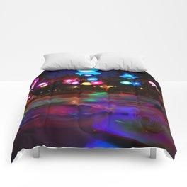 Teacups Blur at Night Comforters
