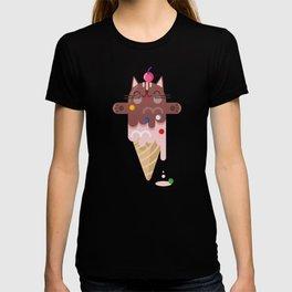 CHOCOLATE CAT ICE CREAM SUPER PAPER HERO T-shirt