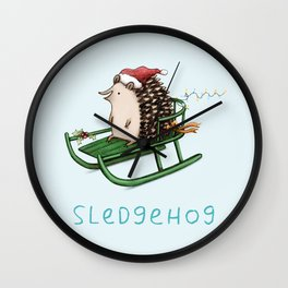 Sledgehog Wall Clock