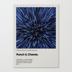 A MOVIE POSTER A DAY: PUNCH IT, CHEWIE. Canvas Print