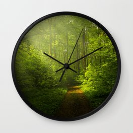 Autumn Forest Nature Landscape Wall Clock