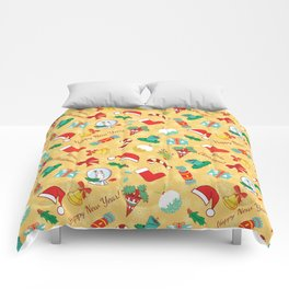 Christmas candy,bells and santa hat SB5 Comforters