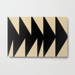 Arrowhead geometry motive Metal Print